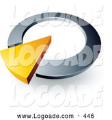 Logo of a Yellow Triangle in a Silver Circular Dial, Above Space for a Business Name and Company Slogan by Beboy