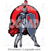 Logo of an Armored Knight and Sword by Chromaco