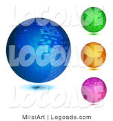 Logo of Mosaic Spheres in Four Colors by MilsiArt