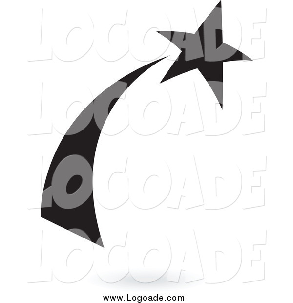 Clipart of a Black Shooting Star Logo