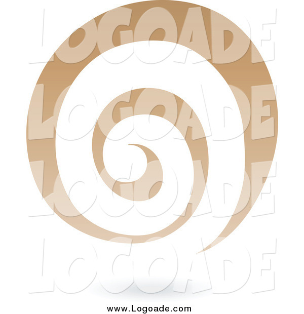 Clipart of a Brown Spiral Galaxy Logo Icon