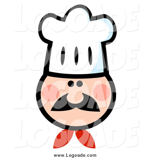 Clipart of a Chef Wearing a Hat
