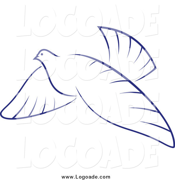 Clipart of a Flying Dove Logo