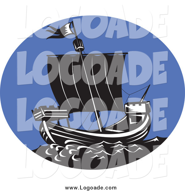 Clipart of a Galleon Ship Logo