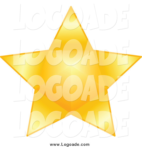 Clipart of a Gold Star Logo