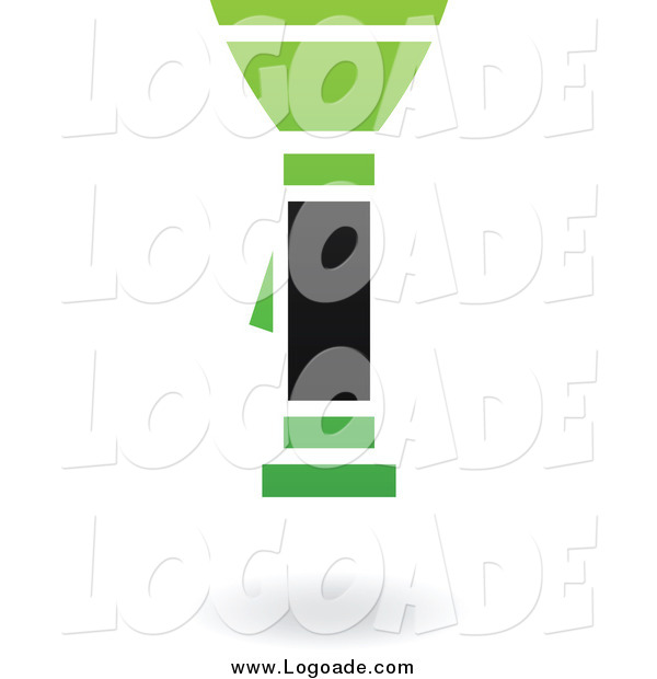 Clipart of a Green and Black Flashlight Logo