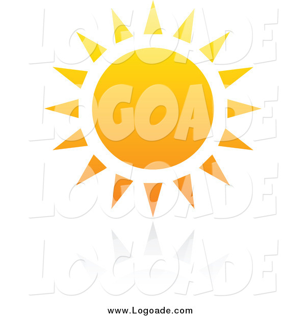 Clipart of a Hot Summer Sun with Reflection Logo
