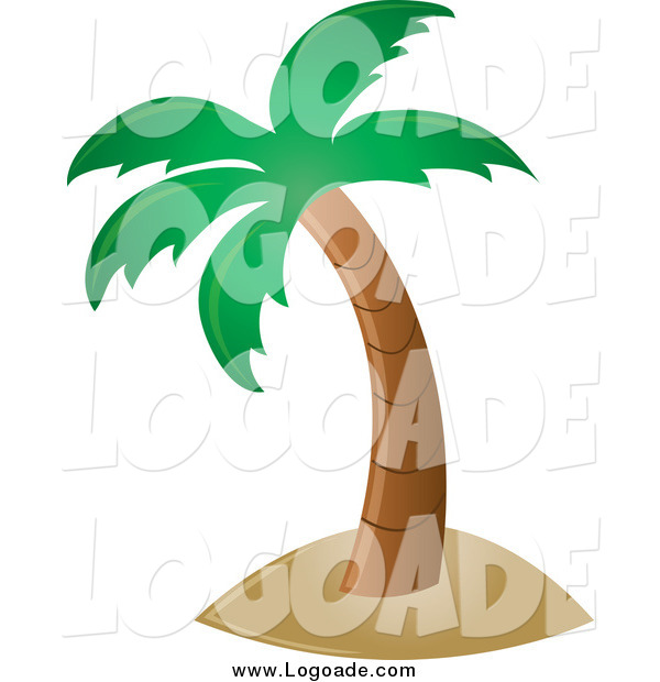Clipart of a Palm Tree