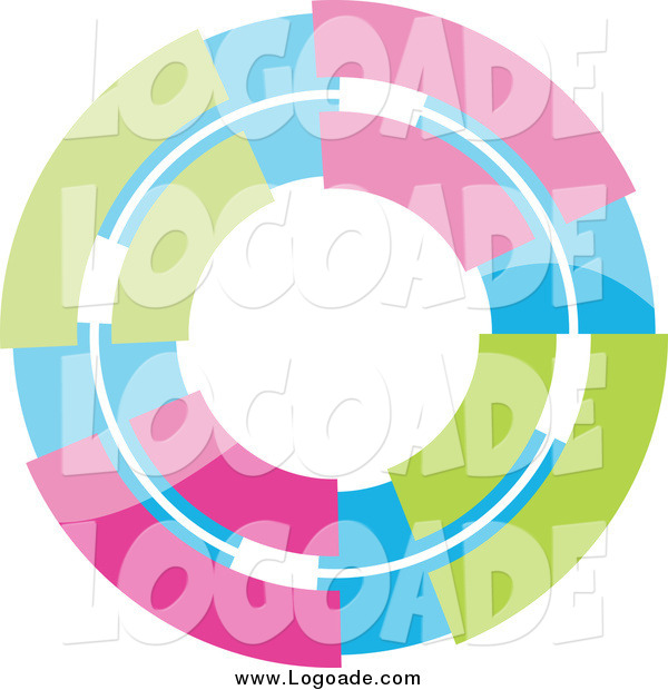 Clipart of a Pastel Colorful Circle Logo