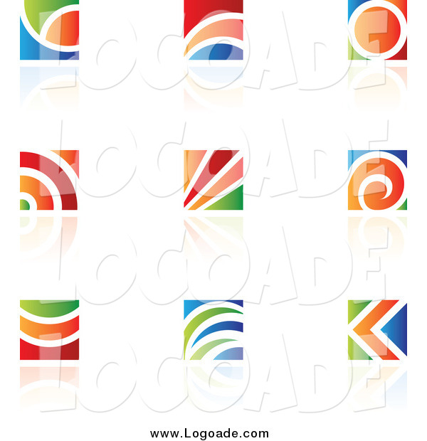 Clipart of Colorful Logos