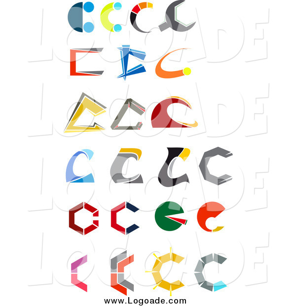 Clipart of Letter C Logos