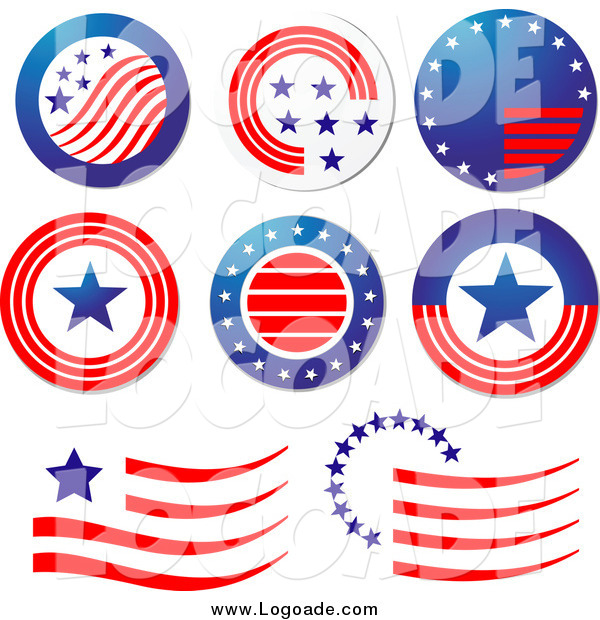 Clipart of Patriotic American Logos