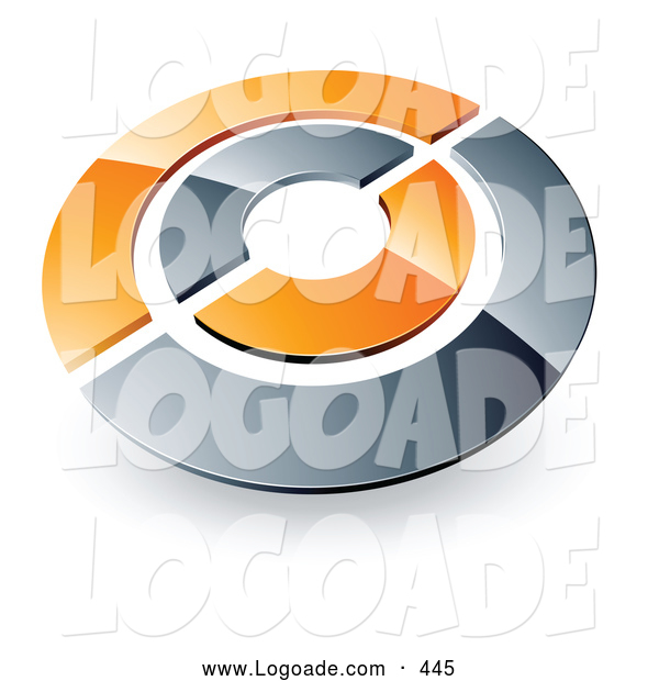 Logo Of A Chrome And Orange Target Or Circles Above Space