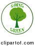 Clipart of a Going Green Tree Logo by Hit Toon