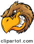 Clipart of a Grinning Brown Bird Head Logo by Chromaco
