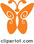 Clipart of a Orange Butterfly Logo by Vector Tradition SM