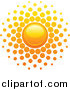 Clipart of a Summer Sun with Dot Rays Logo by Elena