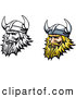 Clipart of Viking Men Logos by Vector Tradition SM