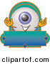 Logo of a Cute Eyeball Mascot Cartoon Character on a Blank Business Label by Toons4Biz