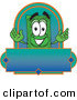 Logo of a Happy Smiling Dollar Bill Mascot Cartoon Character on a Blank Label by Toons4Biz