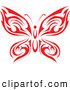 Logo of a Tribal Red Butterfly by Vector Tradition SM